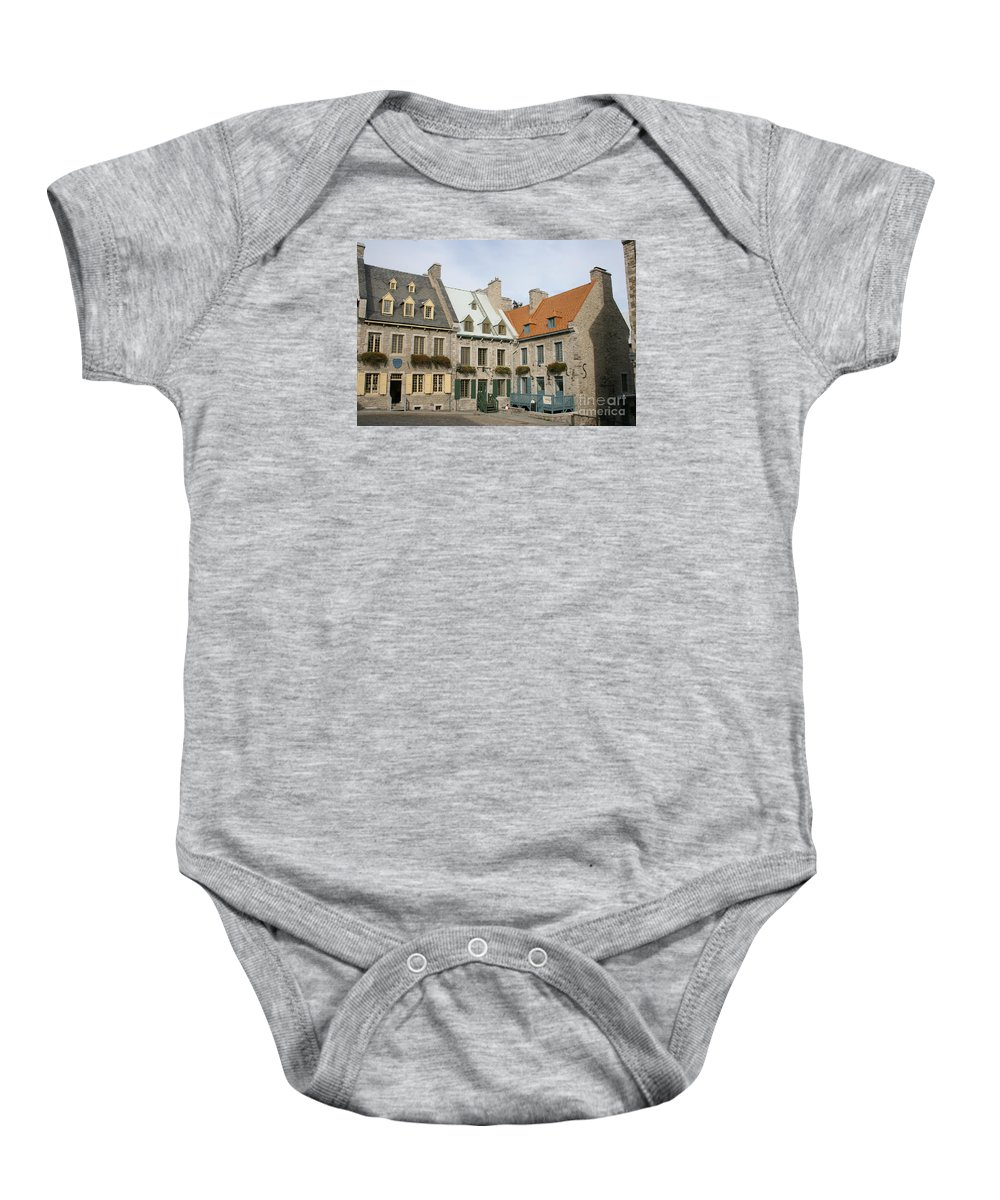 Old Town Baby Onesie featuring the photograph Old Town Quebec - Canada by Christiane Schulze Art And Photography
