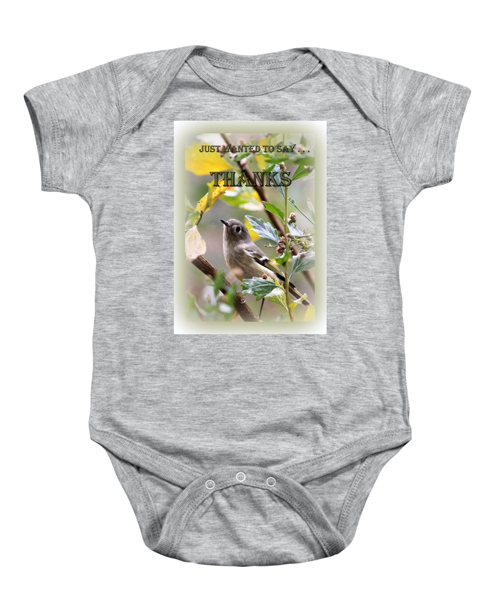 Thanks Baby Onesie featuring the photograph Thank You Card by Travis Truelove