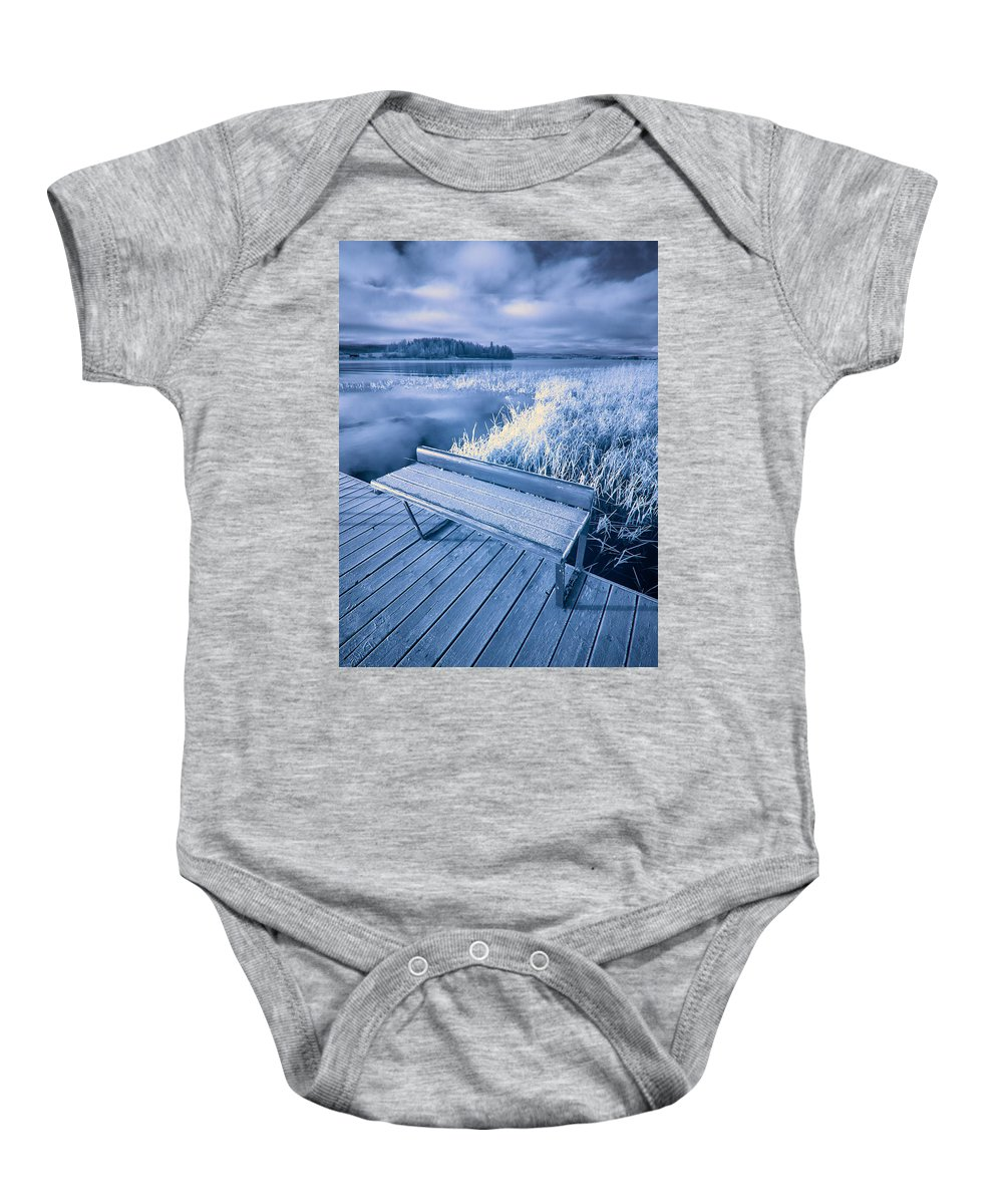 Finland Baby Onesie featuring the photograph Variations Of A Dock by Jouko Lehto