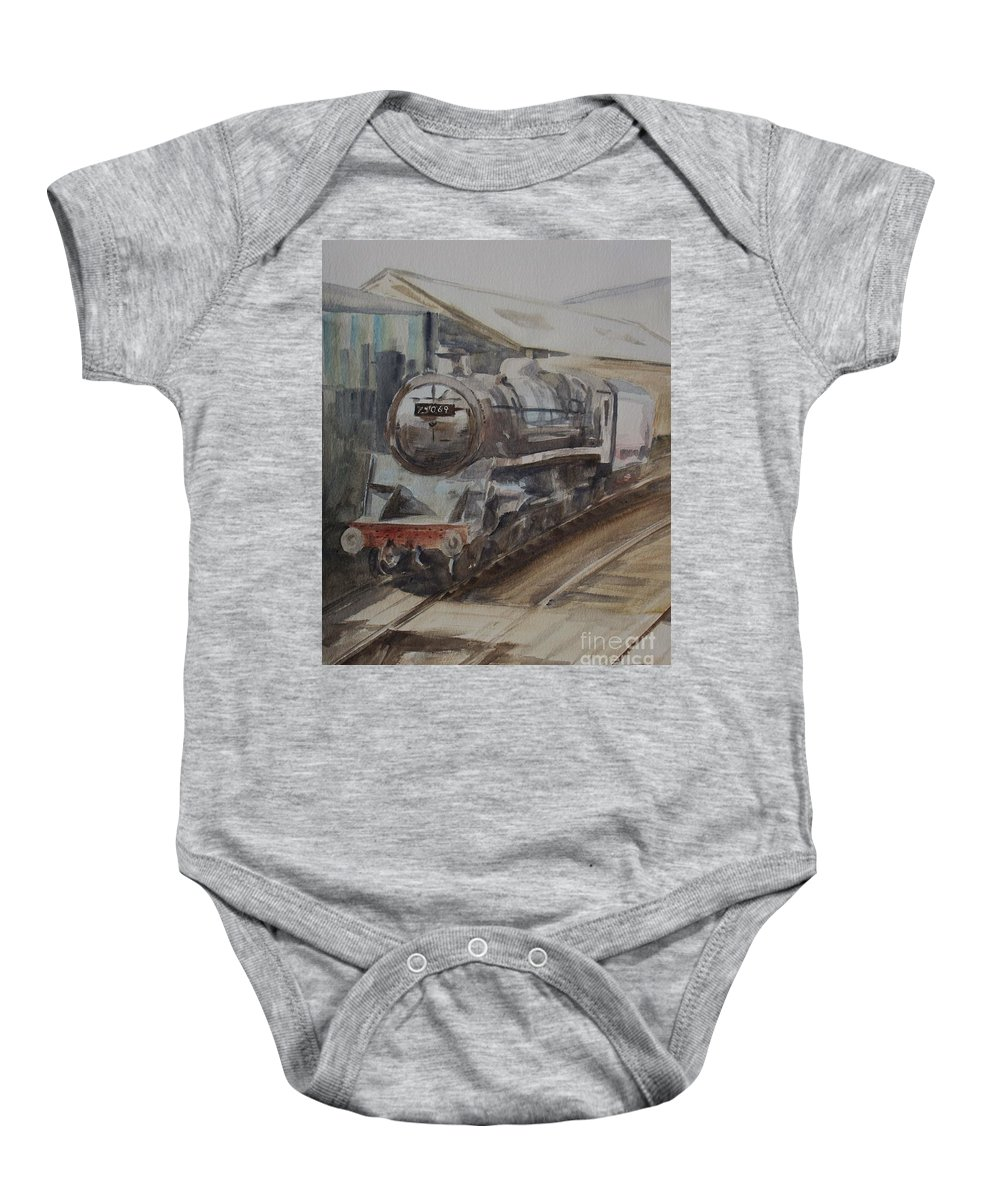 Watercolour Baby Onesie featuring the painting 75069 Br Standard Class 4 by Martin Howard