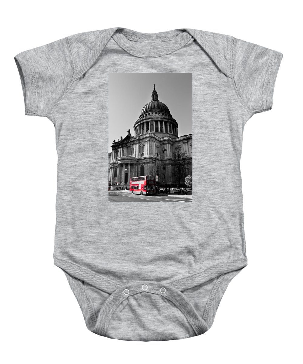 St Paul's Baby Onesie featuring the photograph St Paul's Cathedral London by David Pyatt