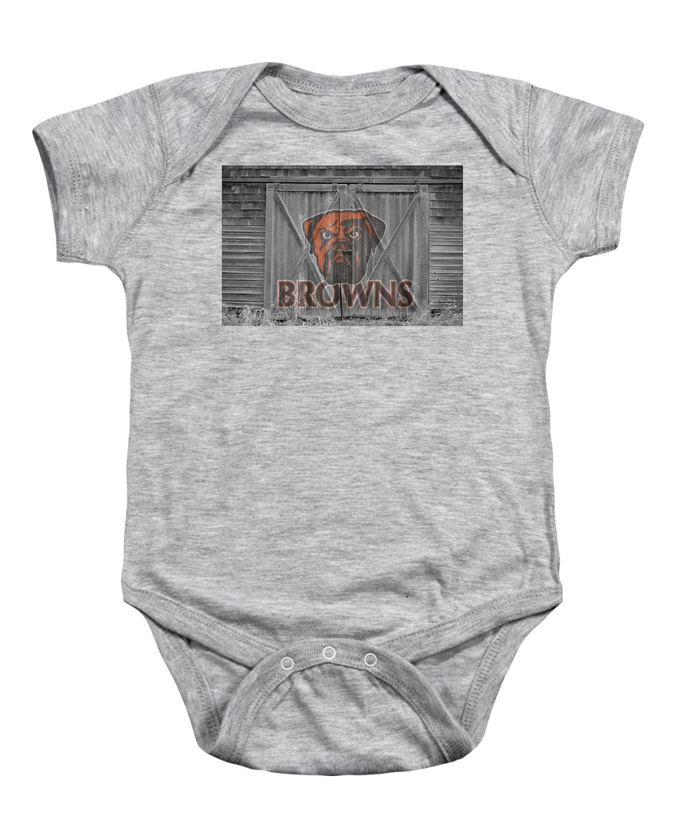 Browns Baby Onesie featuring the photograph Cleveland Browns by Joe Hamilton