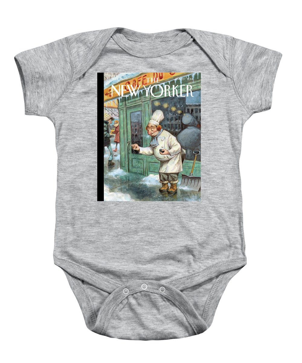 Cooking Baby Onesie featuring the painting Just A Pinch by Peter de Seve