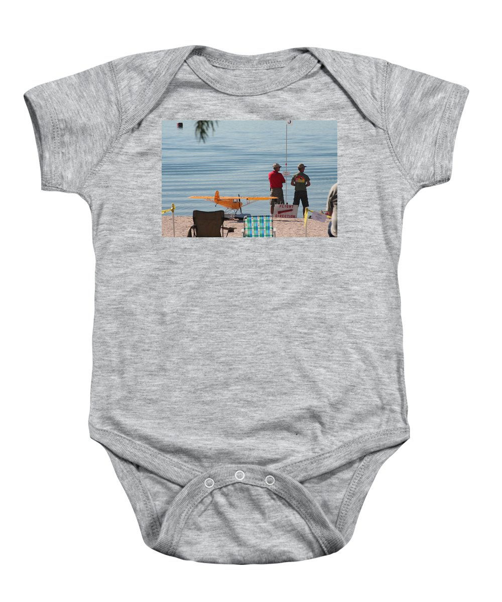 Airplane Baby Onesie featuring the photograph A Day At The Beach by David S Reynolds