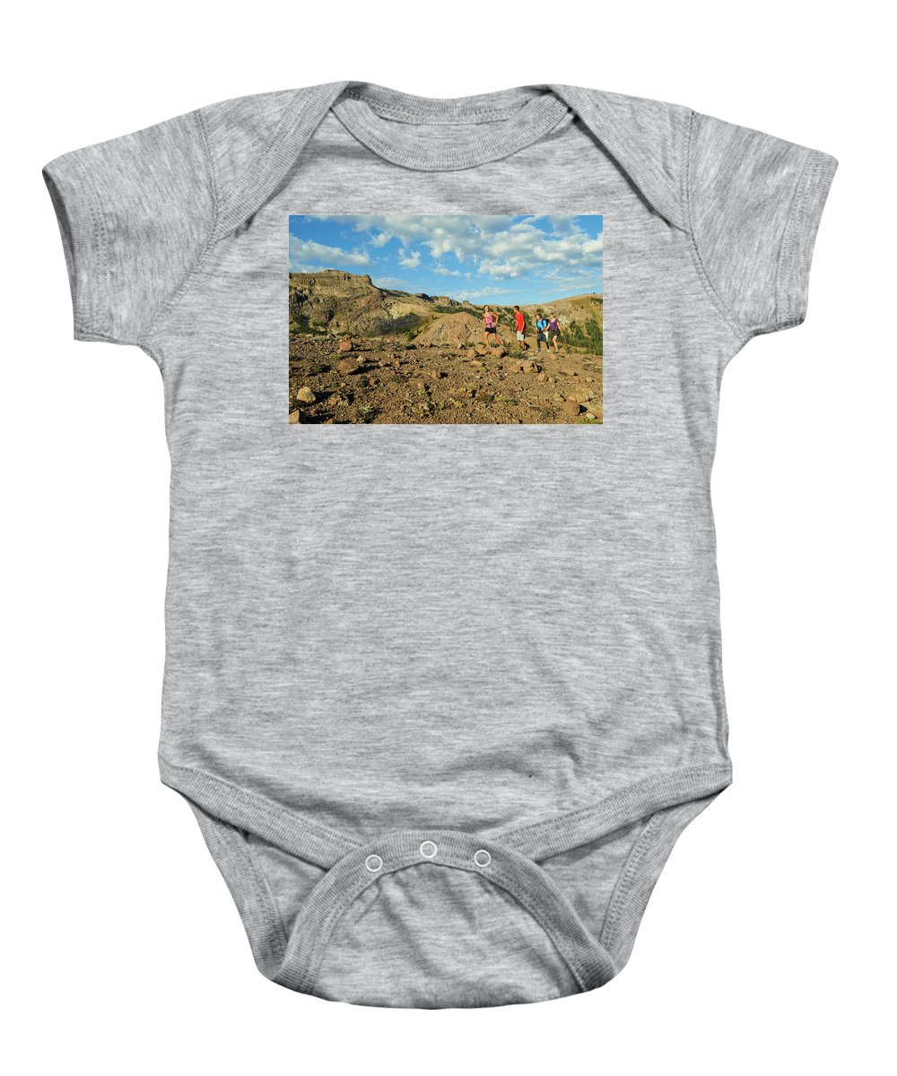 Adventure Baby Onesie featuring the photograph A Family Enjoys The Views by Jack Affleck