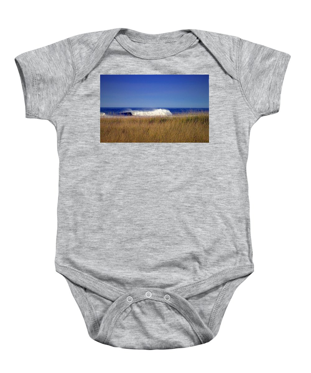 Ocean Baby Onesie featuring the photograph A Force To Be Reckoned With by Joyce Dickens