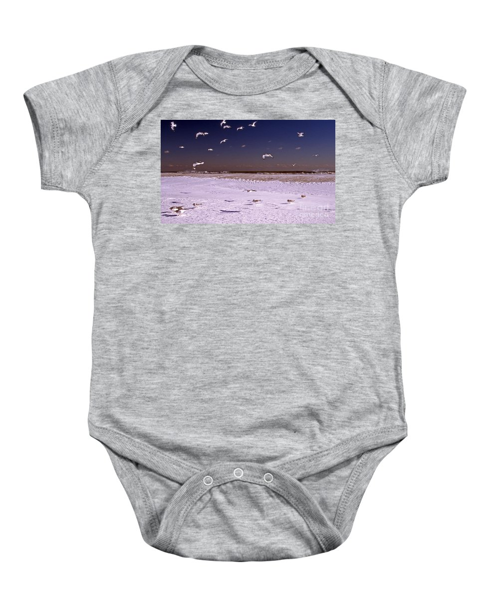 Maritime Baby Onesie featuring the photograph A Hard Days Work by Skip Willits