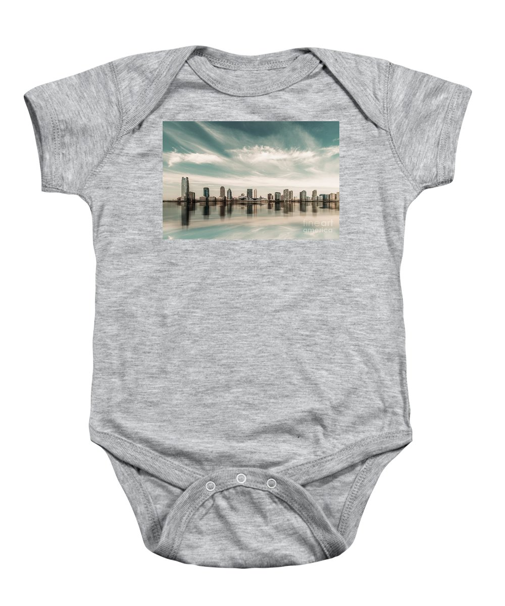 Nyc Baby Onesie featuring the photograph a look to New Jersey by Hannes Cmarits