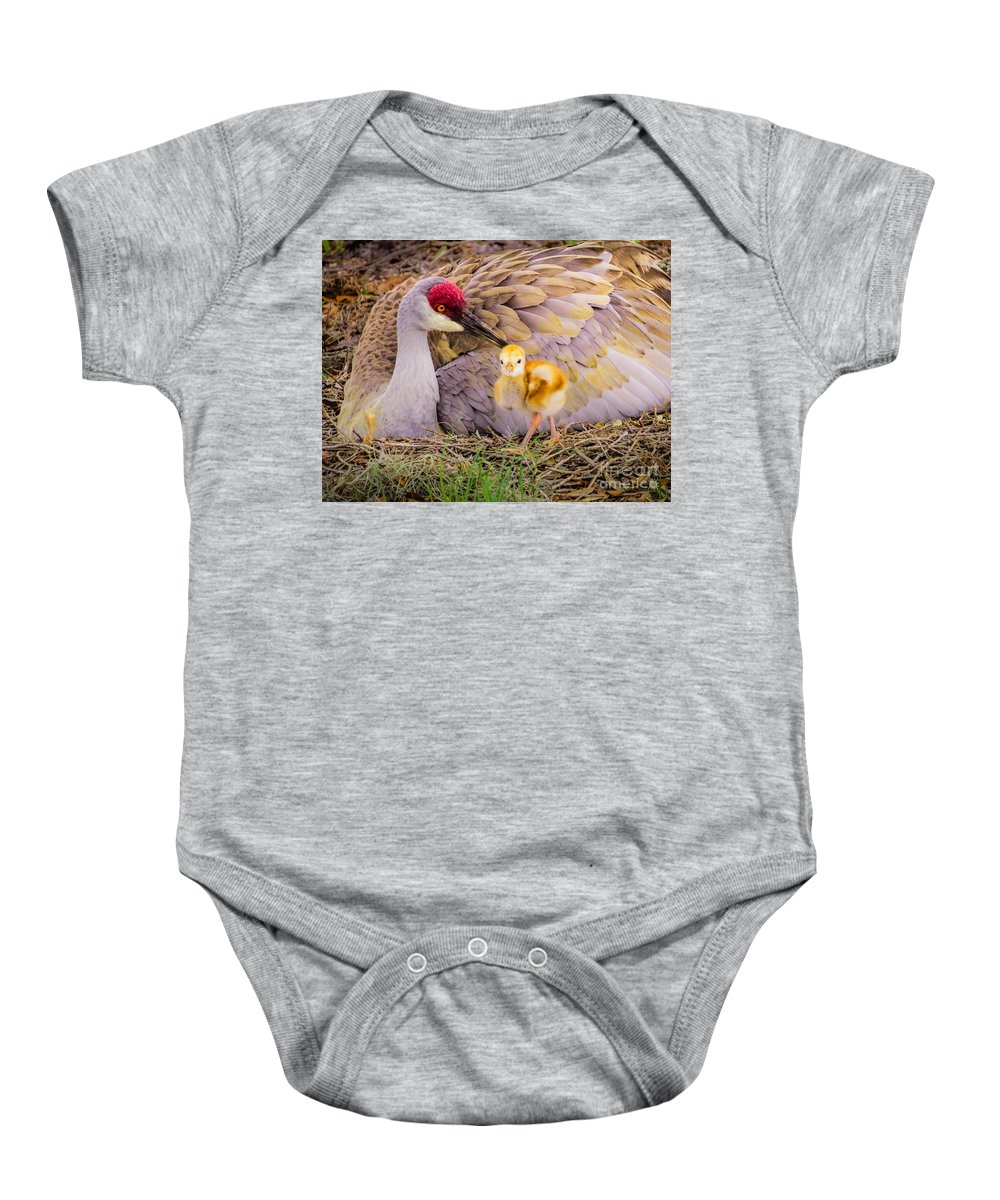 Cute Baby Onesie featuring the photograph A Mother's Lovely Touch by Zina Stromberg