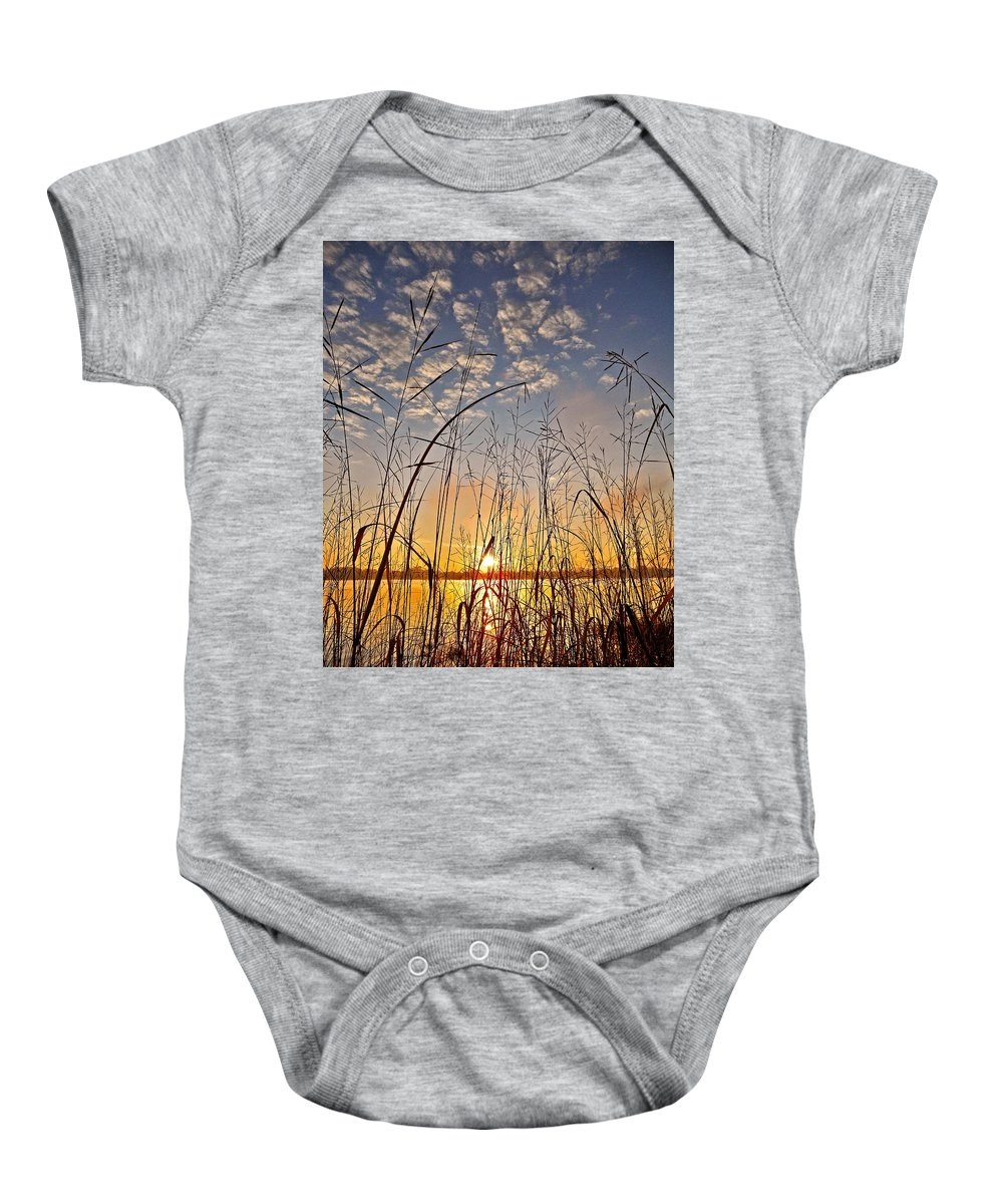 Canada Baby Onesie featuring the photograph A New Day Begins ... by Juergen Weiss