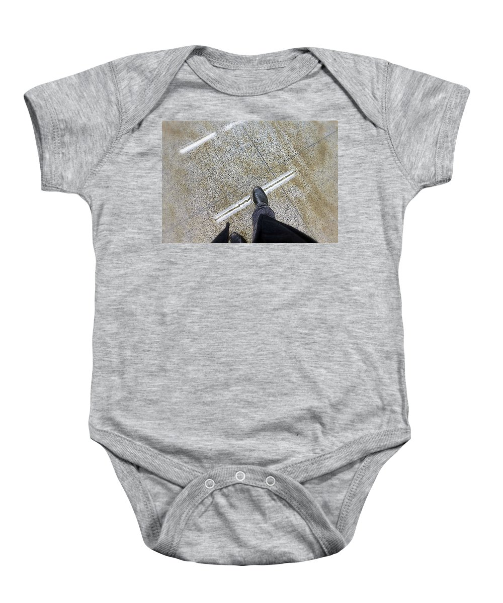 Step Baby Onesie featuring the photograph A Step by Valentino Visentini