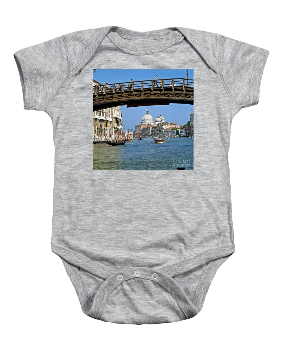 Venice Baby Onesie featuring the photograph Accademia Bridge In Venice Italy by Heiko Koehrer-Wagner