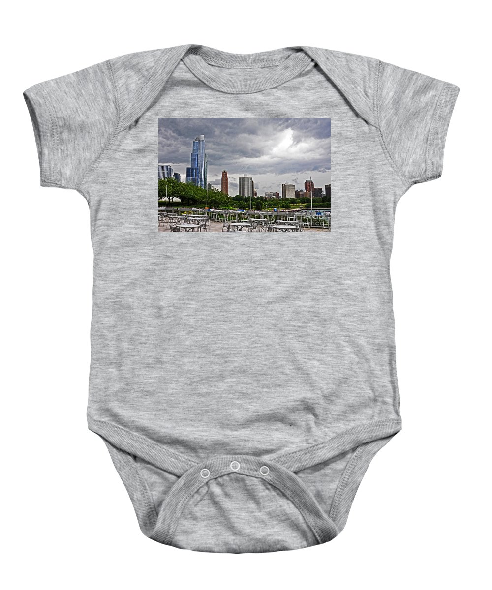Tables Baby Onesie featuring the photograph Across The Tables by Lydia Holly