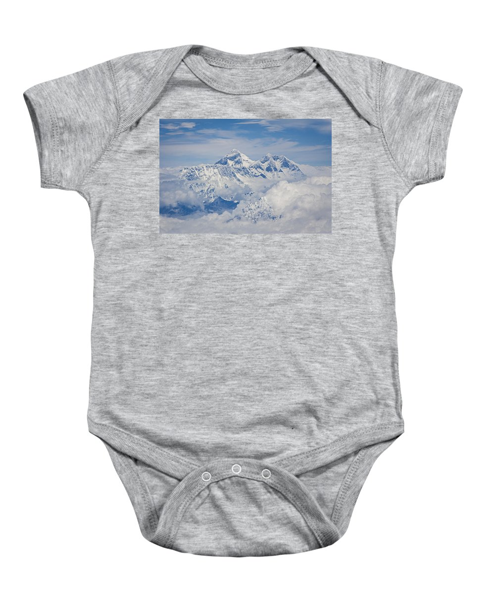 Everest Baby Onesie featuring the photograph Aerial View Of Mount Everest, Nepal, 2007 by Hitendra SINKAR