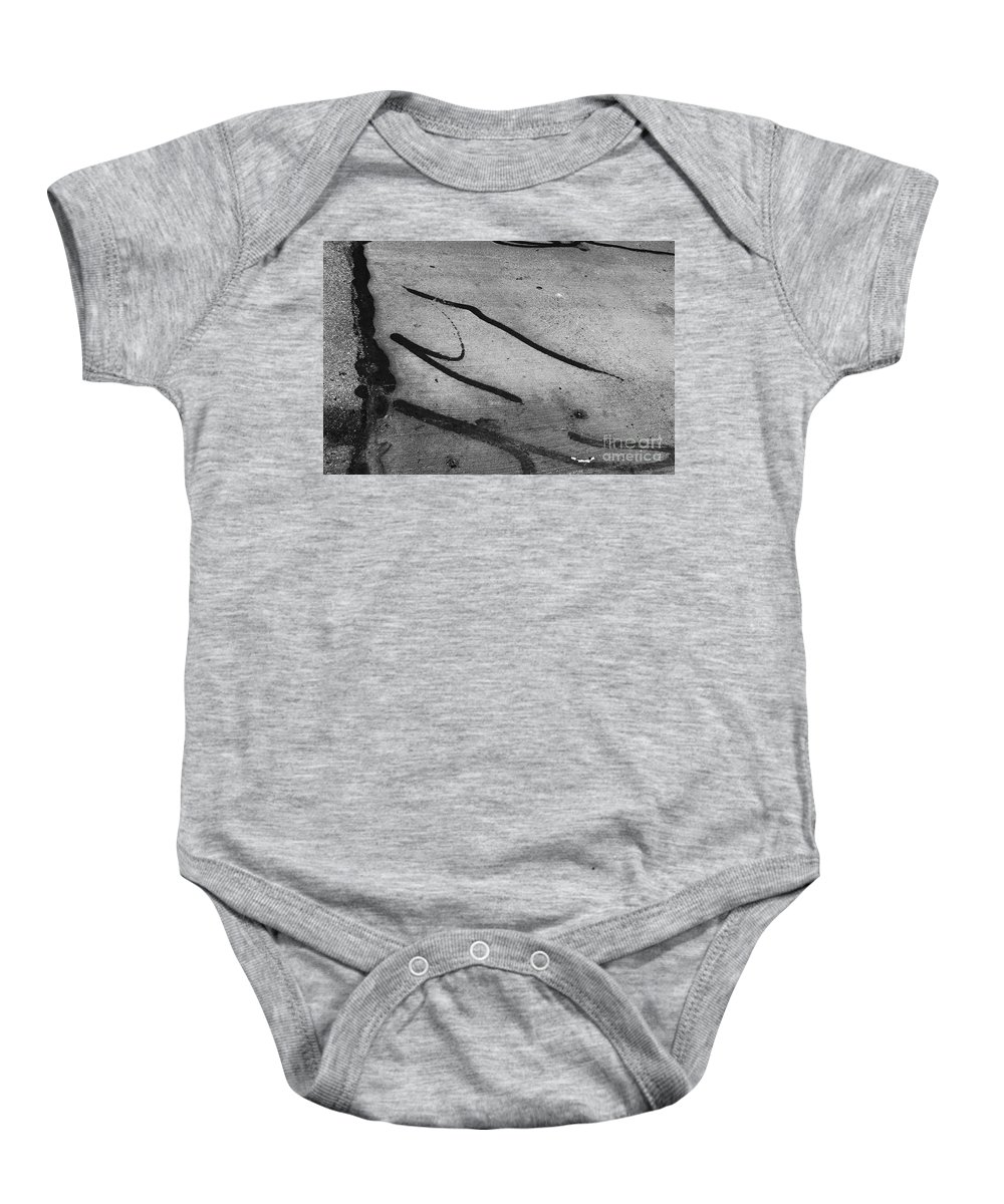 Black And White Photography Baby Onesie featuring the photograph Against All The Odds by Fei A