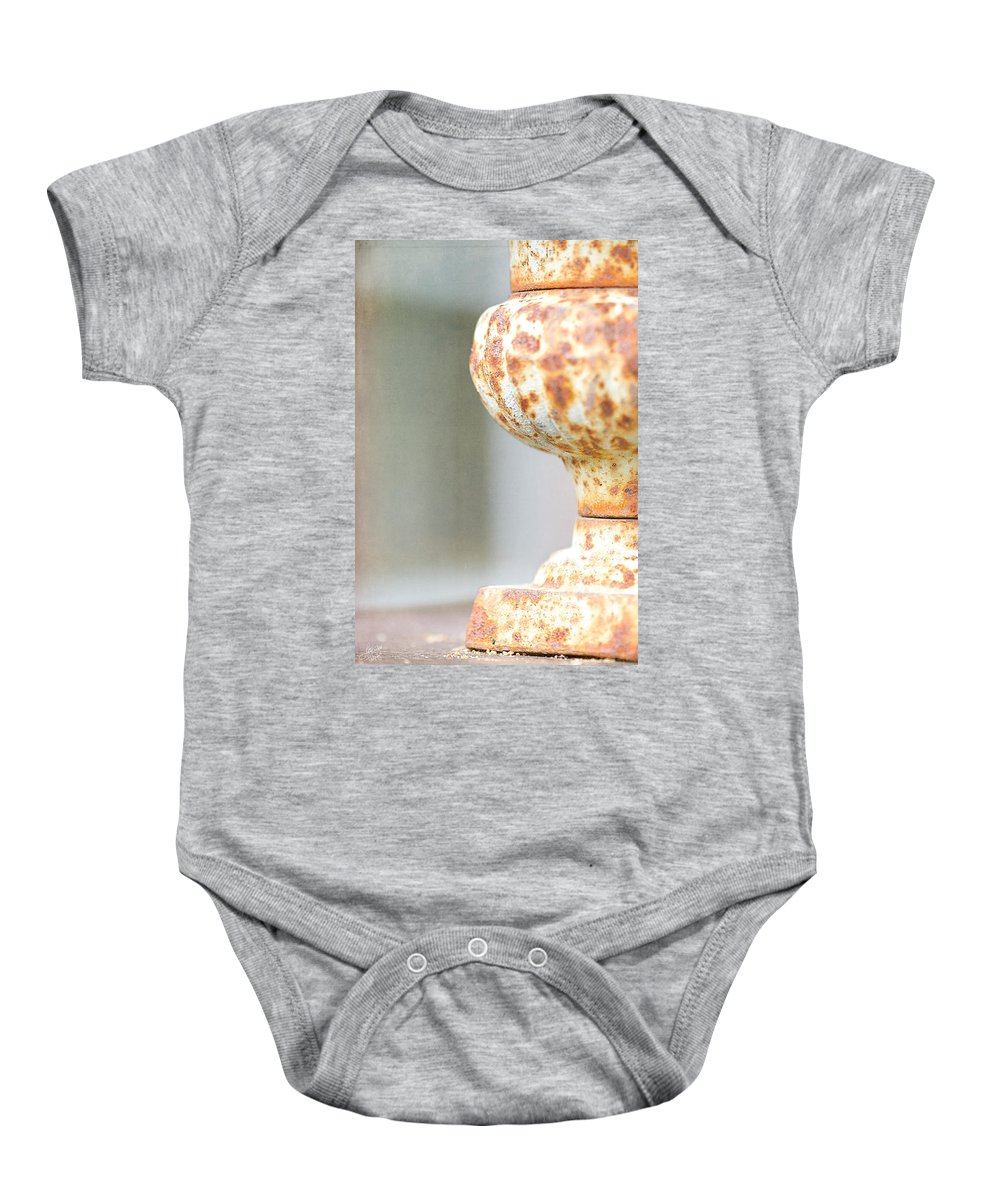 Lisa Knechtel Baby Onesie featuring the photograph Aged Curves by Lisa Knechtel