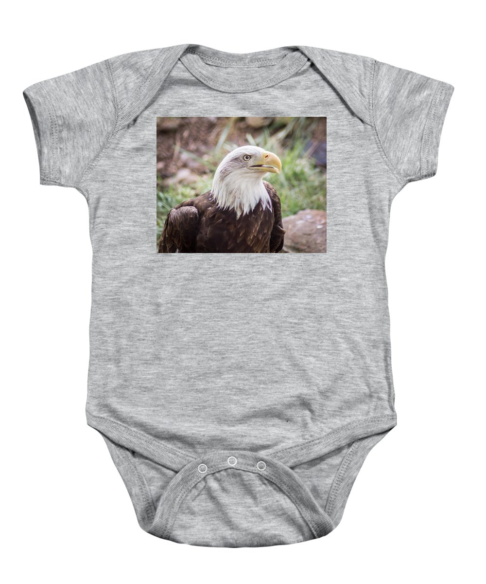 Bird Baby Onesie featuring the photograph Aging Patriot by Bill Pevlor