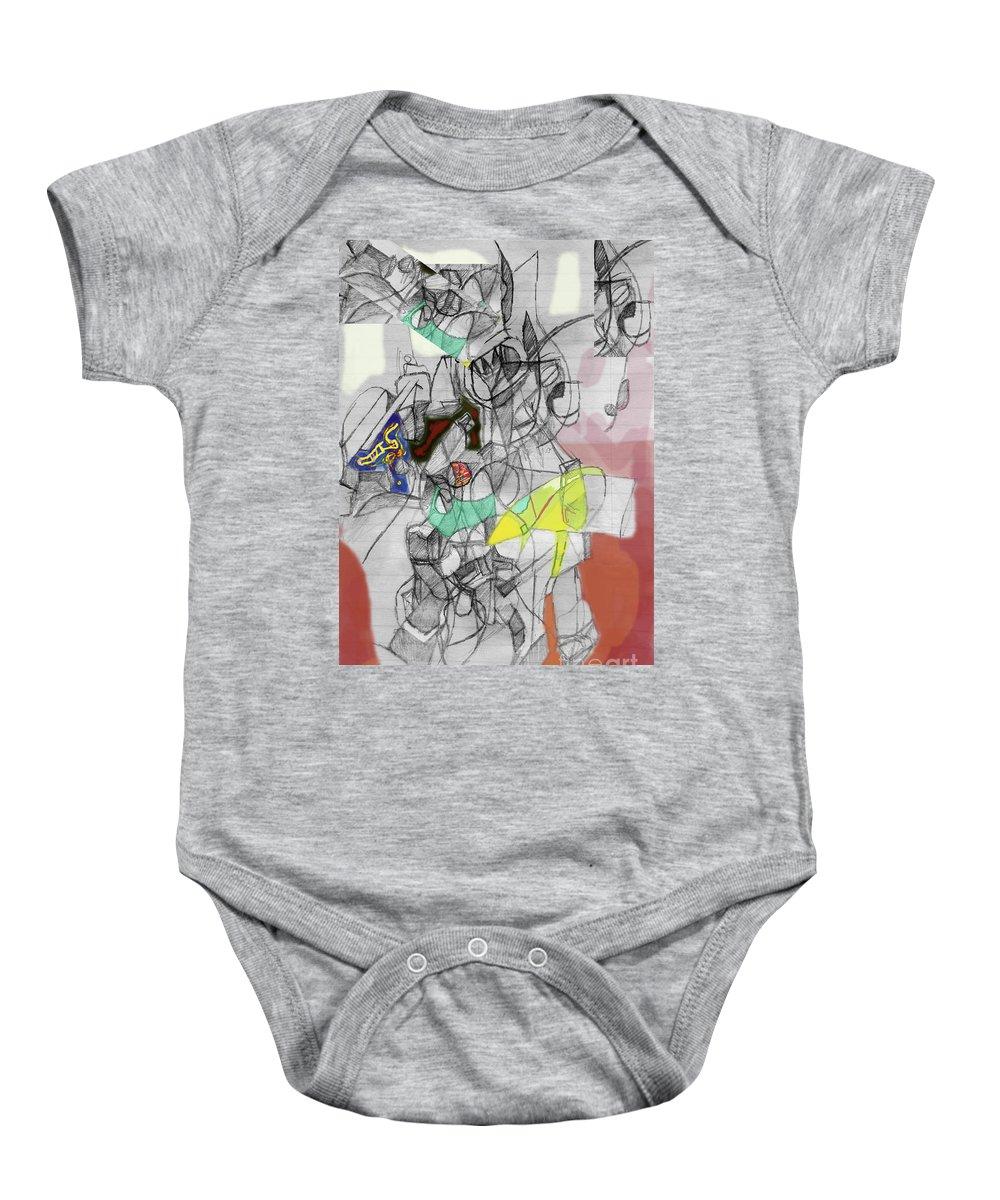 Torah Baby Onesie featuring the digital art Self-renewal 9c by David Baruch Wolk