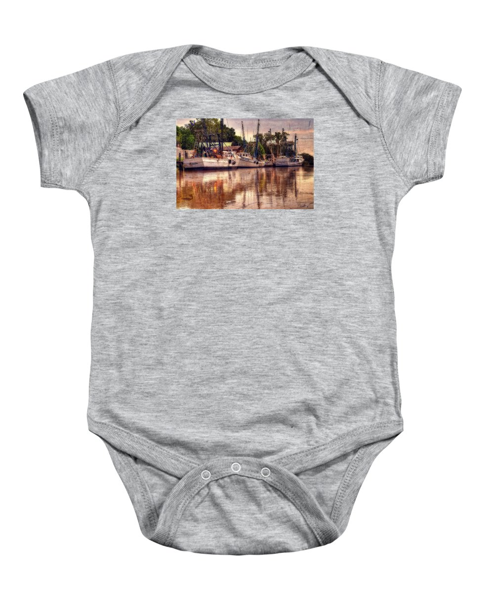 Shrimp Baby Onesie featuring the photograph Air And Spirit by John Adams