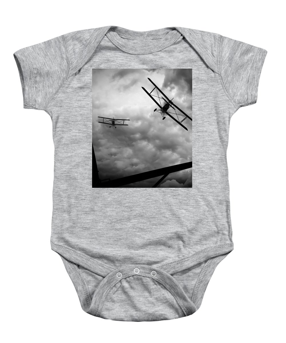 Airplane Baby Onesie featuring the photograph Air Pursuit by Bob Orsillo