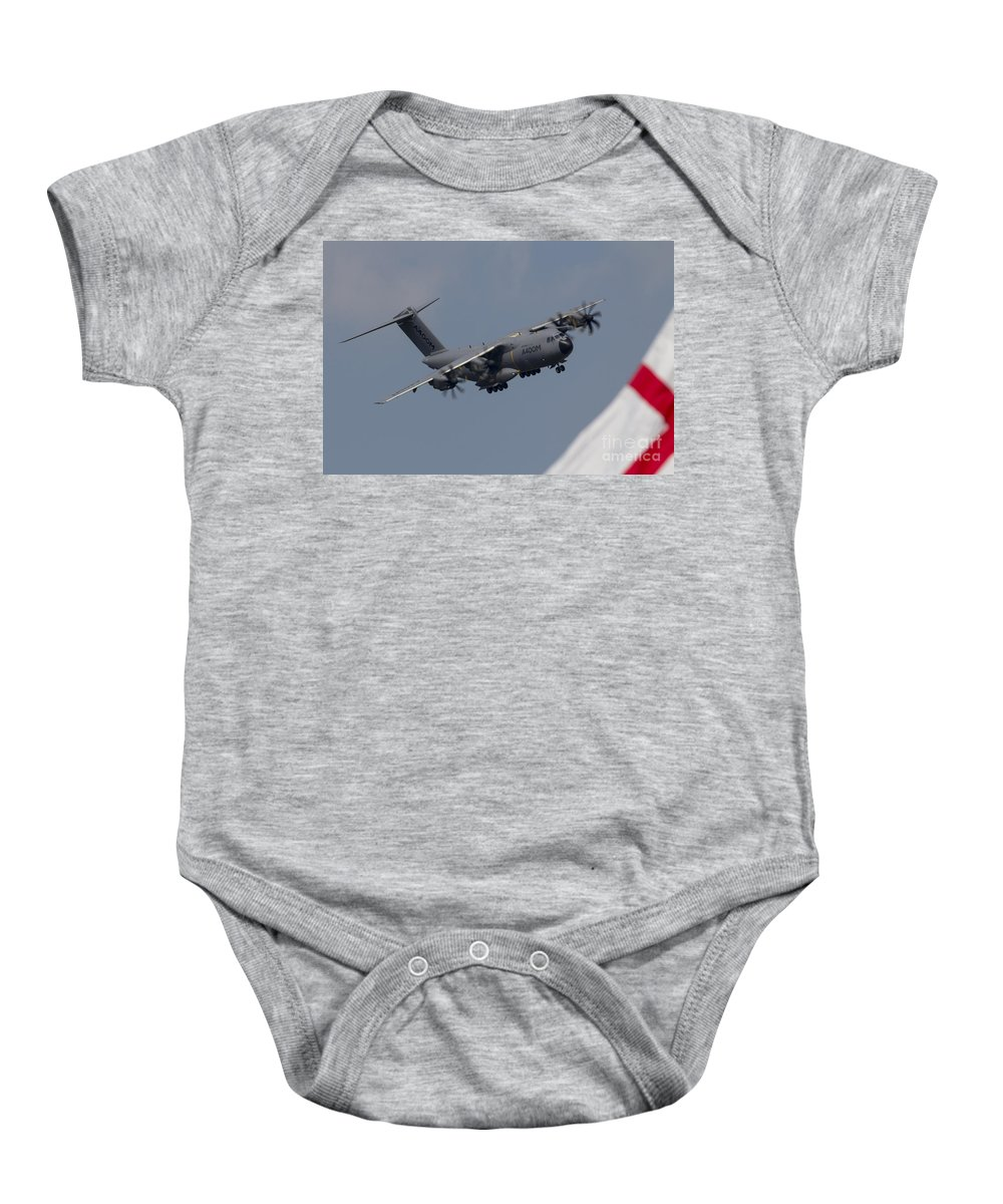 Airbus Baby Onesie featuring the photograph Airbus A400m by J Biggadike
