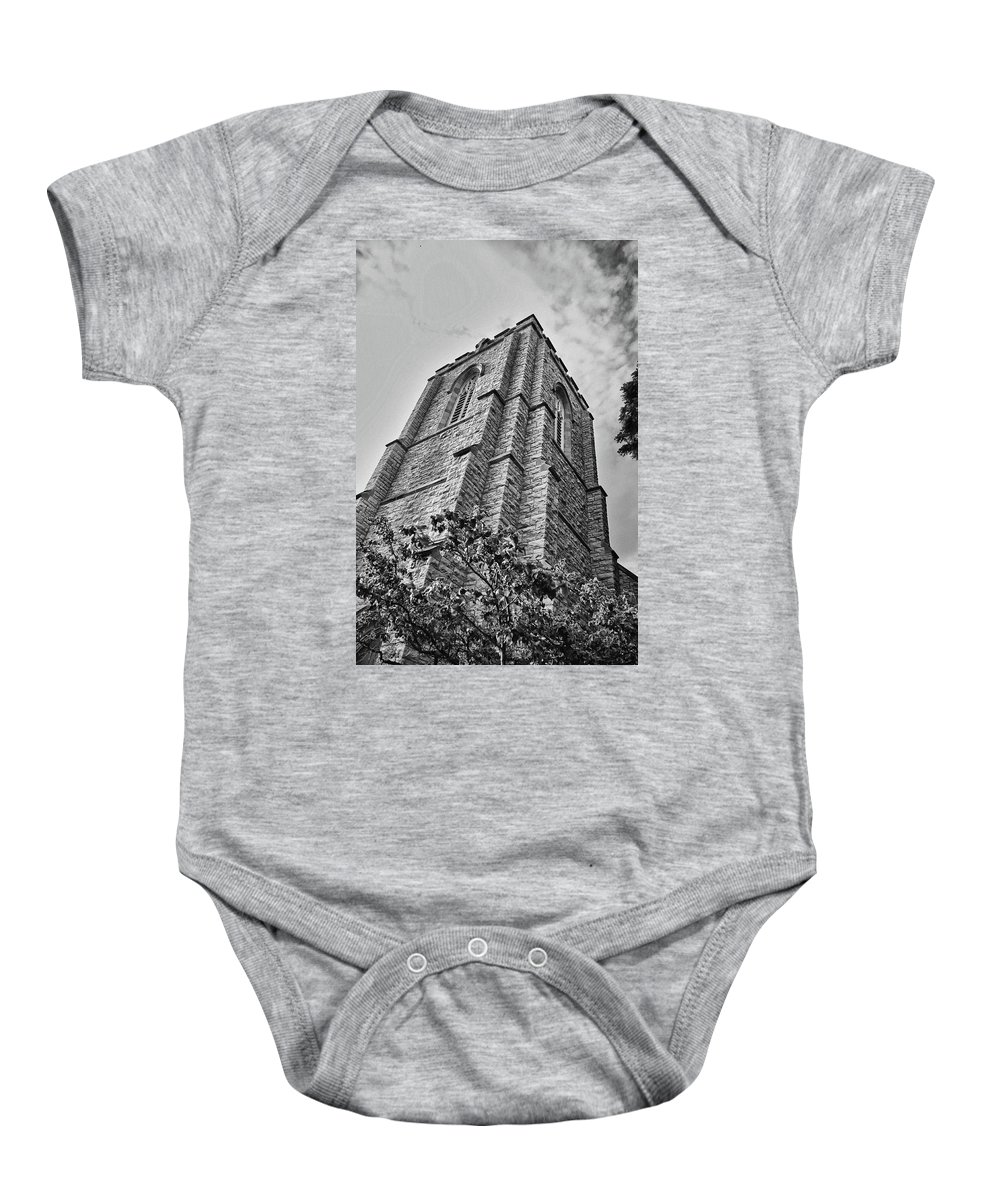 Buildings Baby Onesie featuring the photograph All Saints 8353 by Guy Whiteley