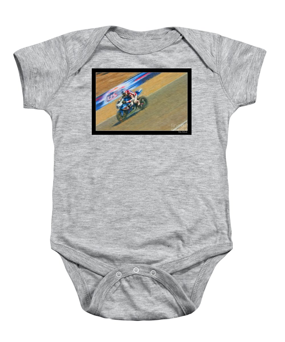 Ama Superbike Baby Onesie featuring the photograph Ama Superbike Martin Cardenas by Blake Richards
