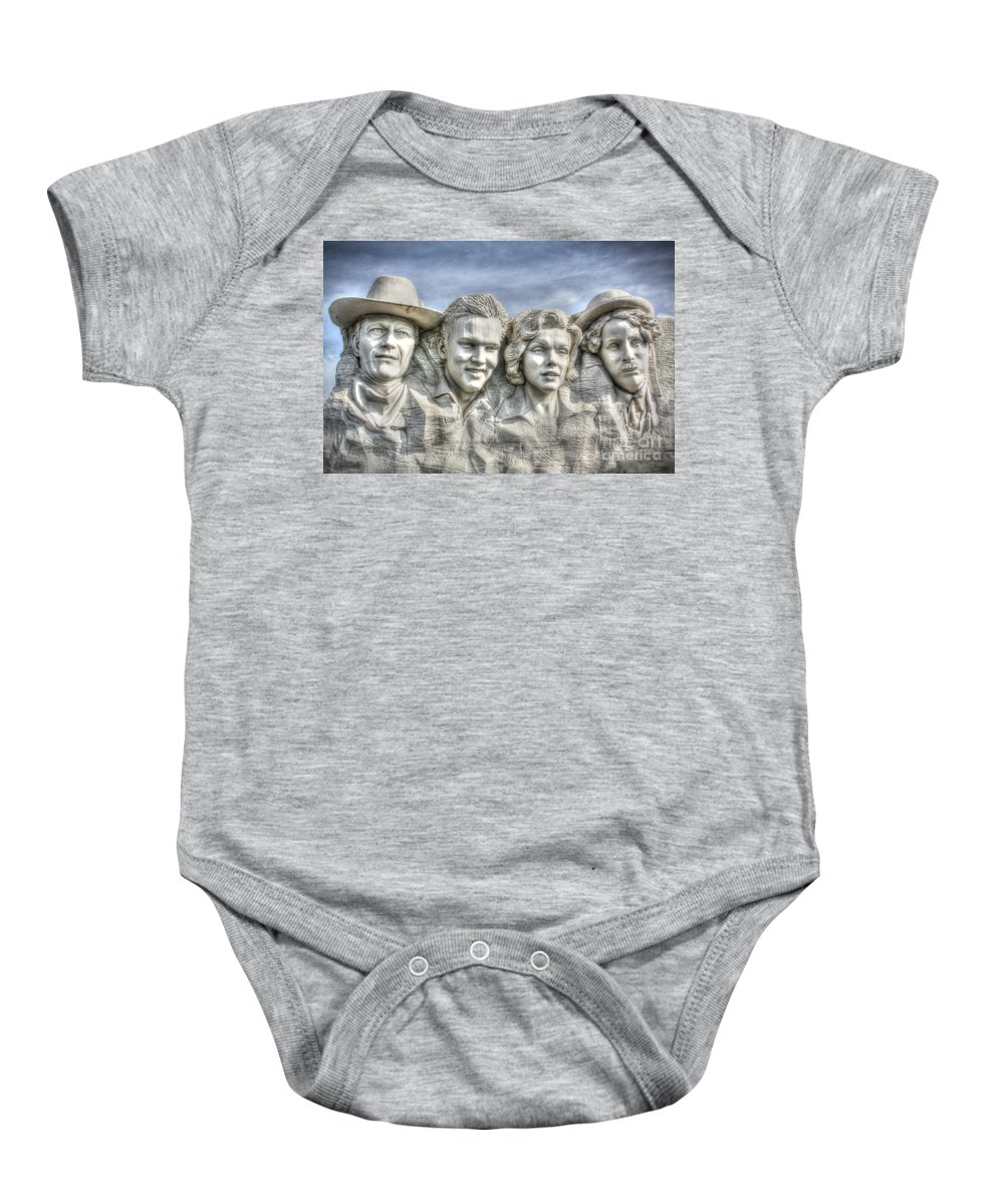 Outdoors Baby Onesie featuring the digital art American Cinema Icons - America's Sweethearts by Dan Stone