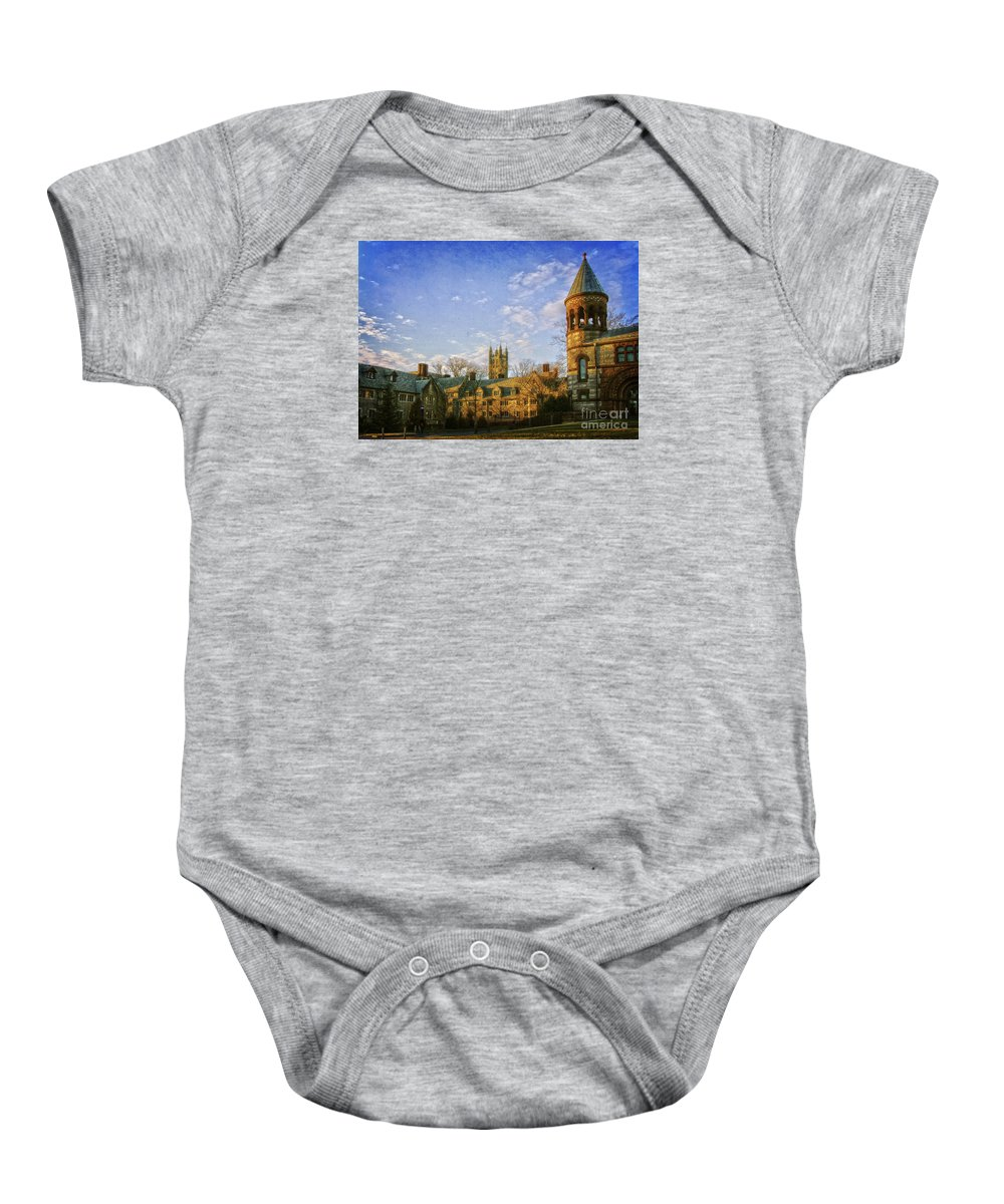 Places Baby Onesie featuring the photograph An Afternoon At Princeton by Debra Fedchin
