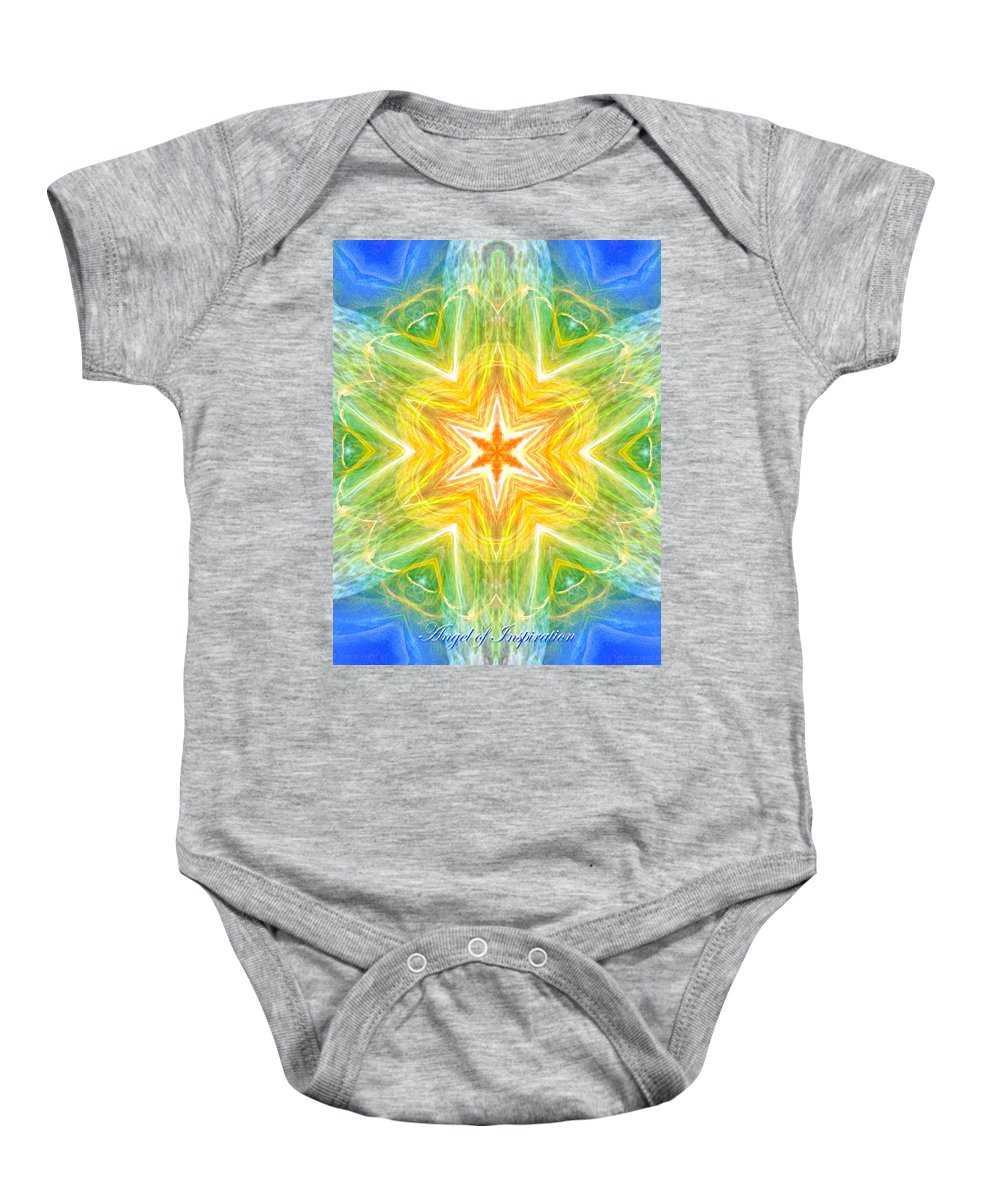 Angel Baby Onesie featuring the digital art Angel Of Inspiration by Diana Haronis