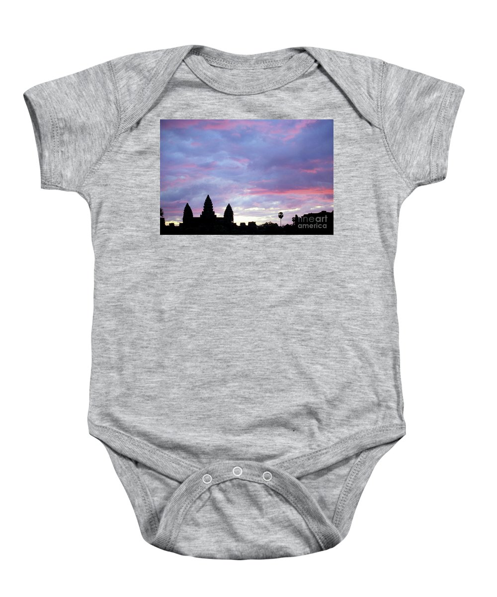 Angkor Wat Baby Onesie featuring the photograph Angkor Wat Sunrise 02 by Rick Piper Photography