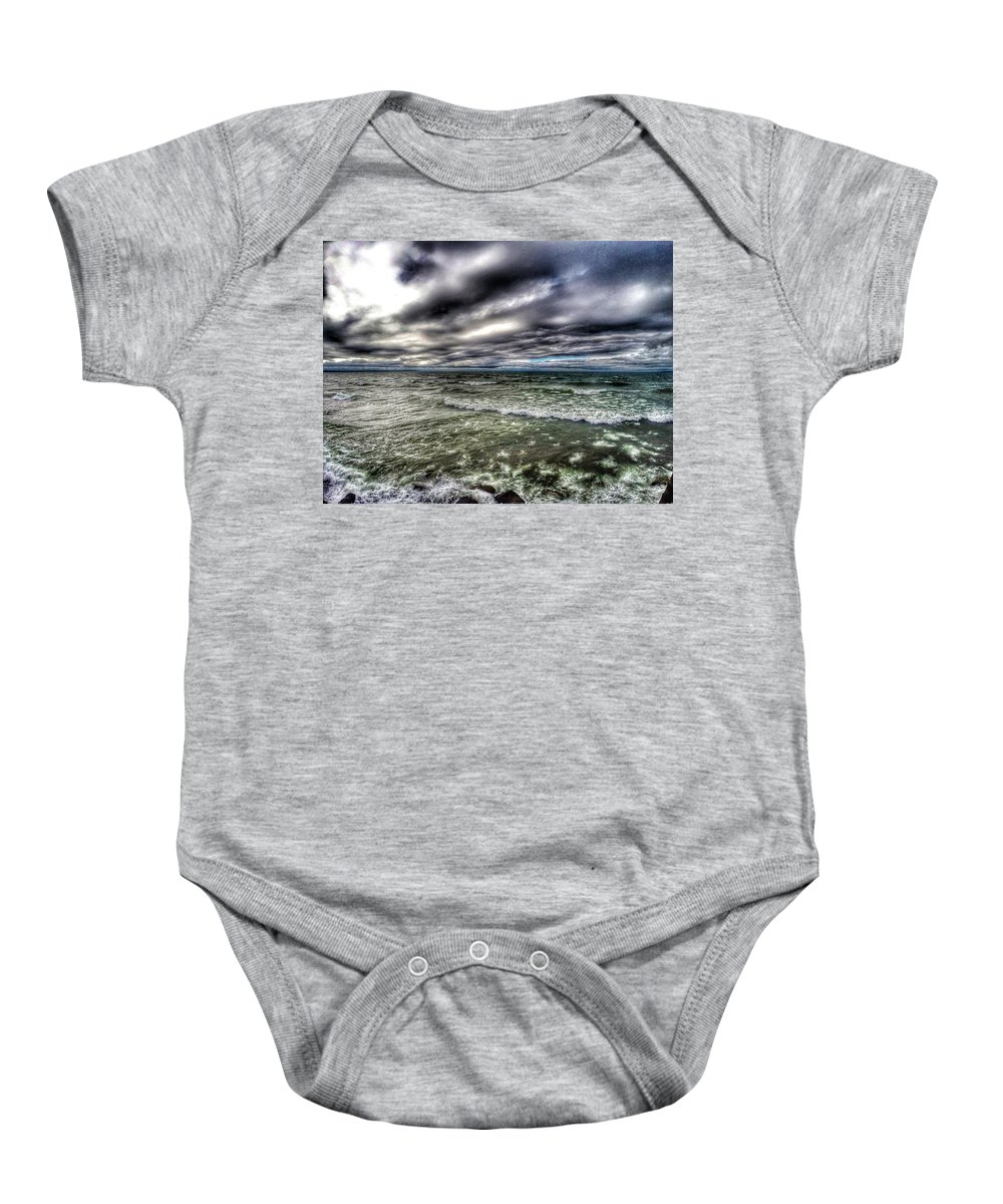 Lake Ontario Baby Onesie featuring the photograph Angry Ontario by Erik Kaplan