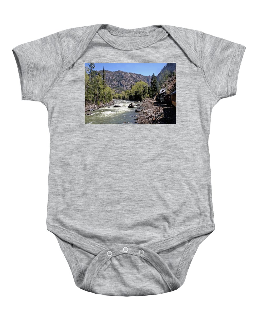 Mountains Baby Onesie featuring the photograph Animas River by Shirley Roberson