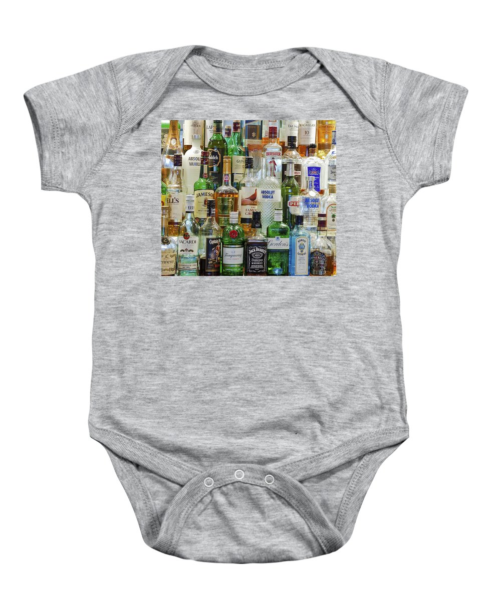 Drink Baby Onesie featuring the photograph Anyone For A Drink by Maj Seda