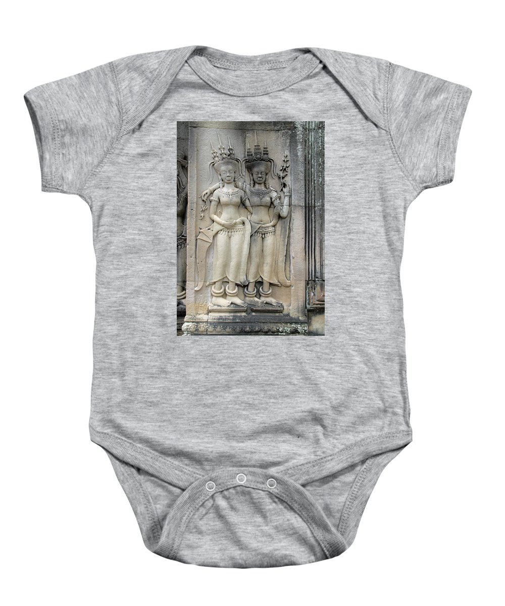 Cambodia Baby Onesie featuring the photograph Apsaras by David Freuthal