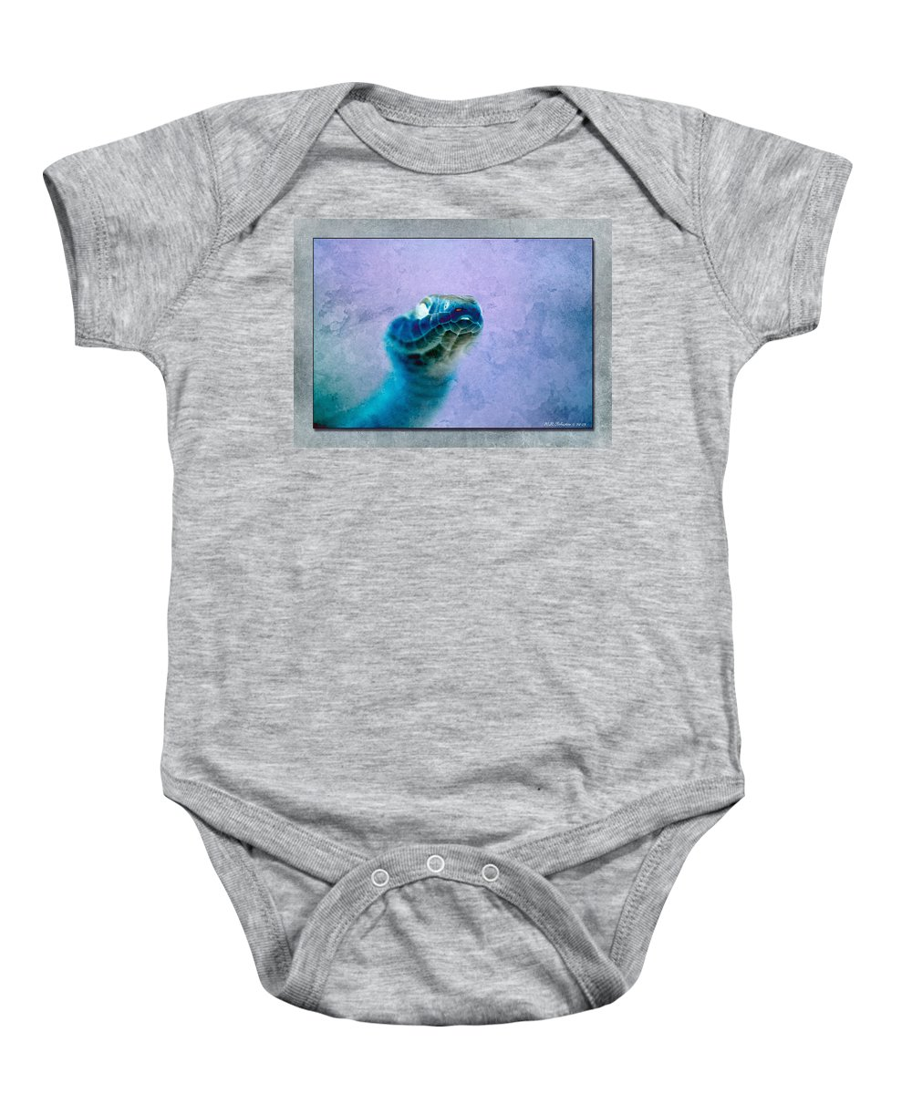 Snake Baby Onesie featuring the photograph Aqua Serpent 4 by WB Johnston