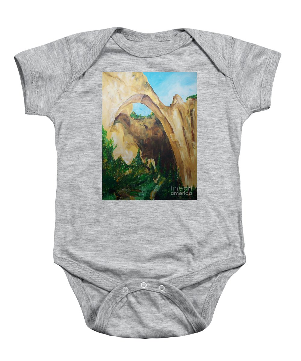 Floral Baby Onesie featuring the painting Arch by Eric Schiabor