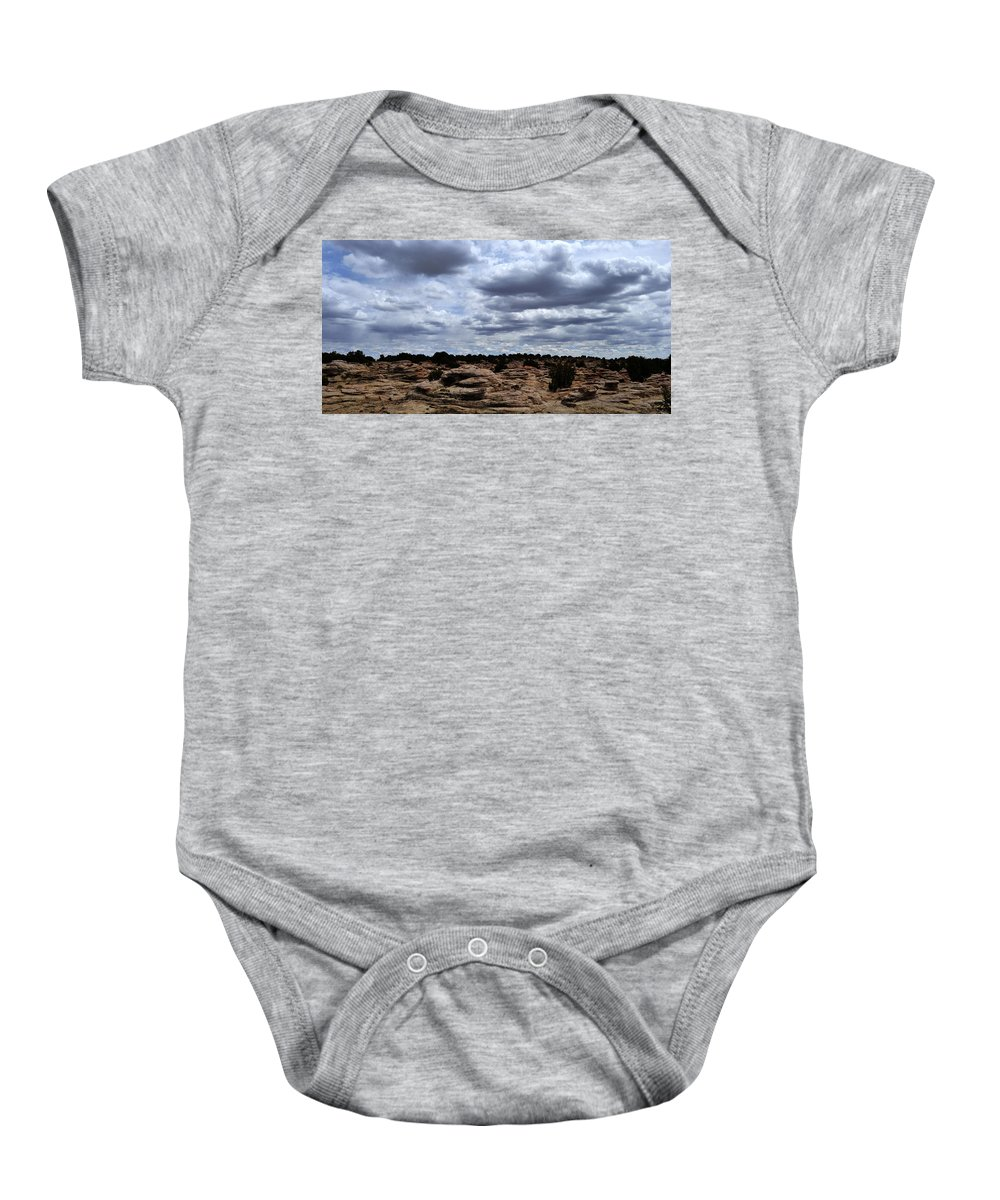 Landscape Baby Onesie featuring the photograph Around The Ranch by Pam Romjue