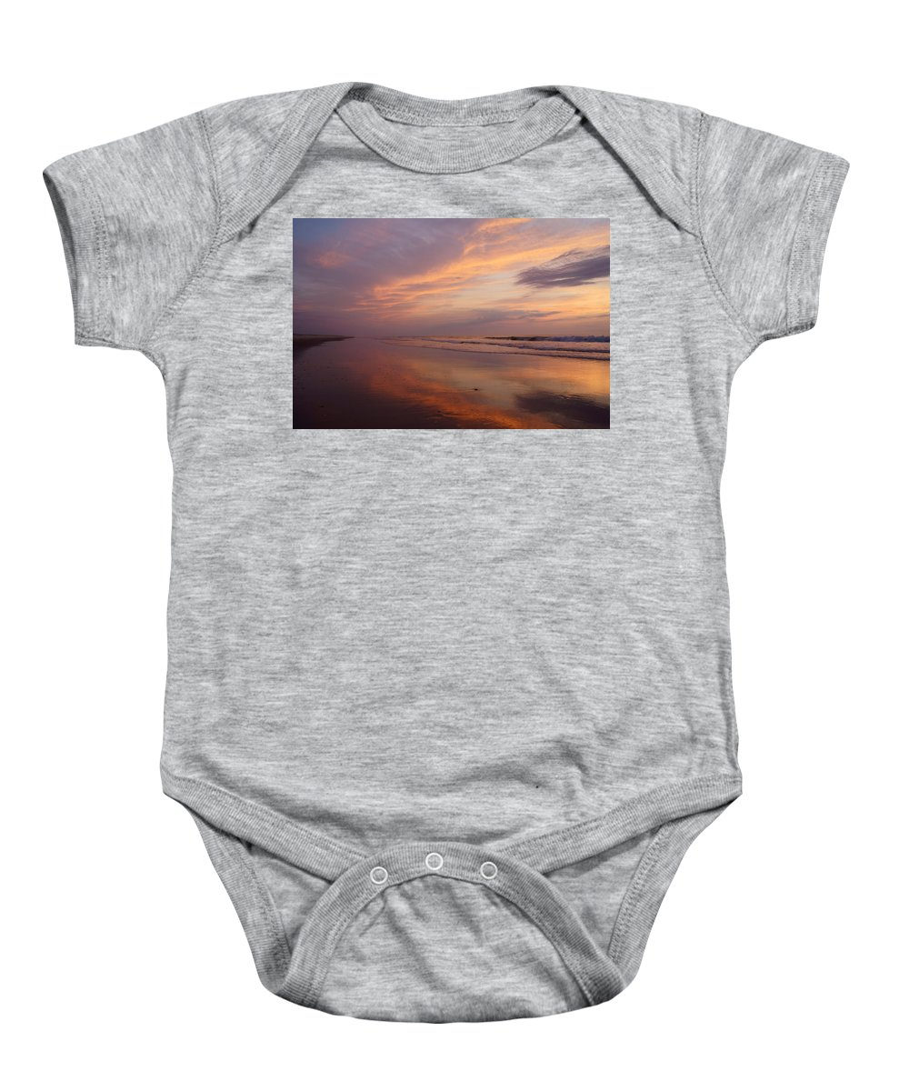 Atlantic Baby Onesie featuring the photograph Assateague 1 by Benjamin Reed
