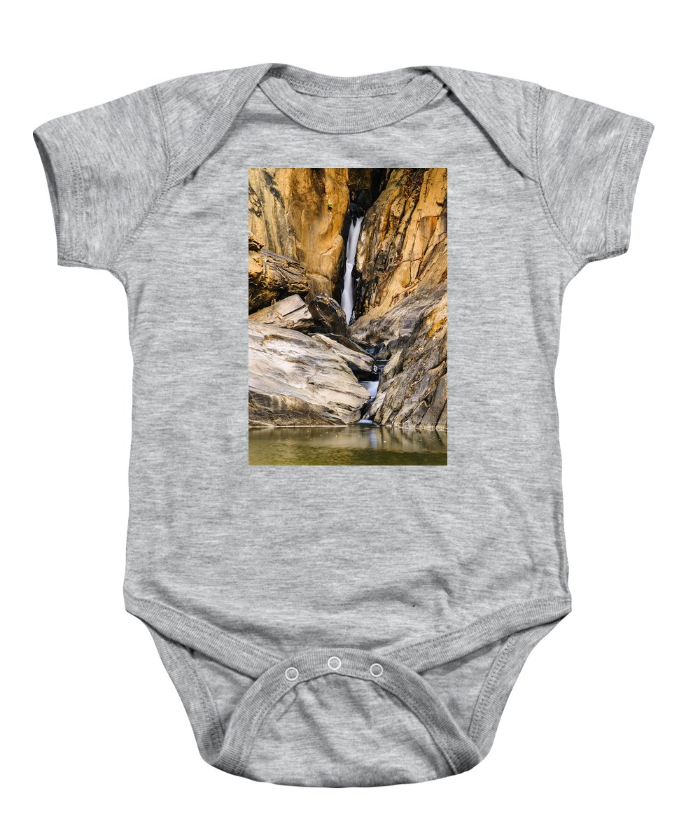 Waterfalls Baby Onesie featuring the photograph Attagar Falls In Western Ghats by Vishwanath Bhat