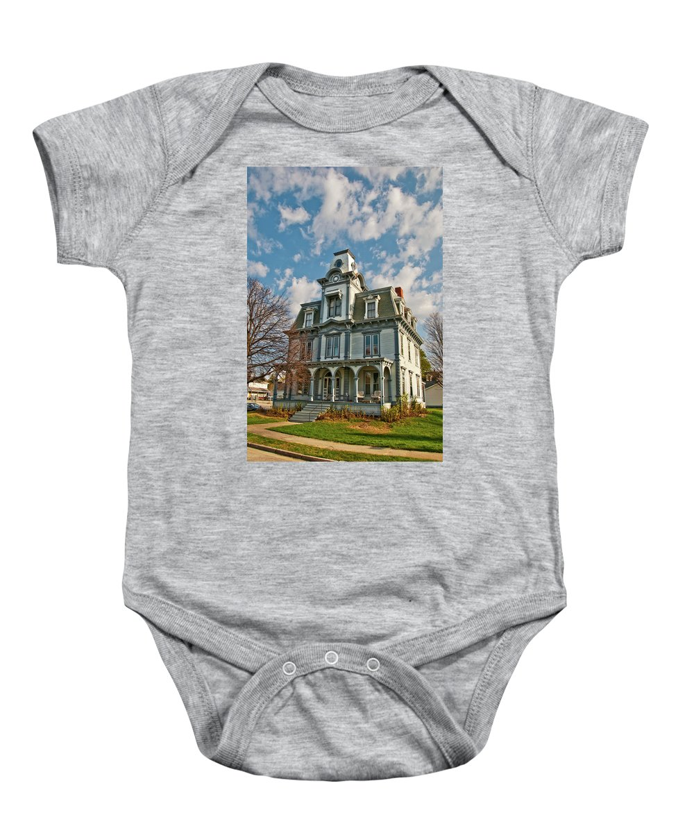 Buildings Baby Onesie featuring the photograph Auburn Home 0075 by Guy Whiteley