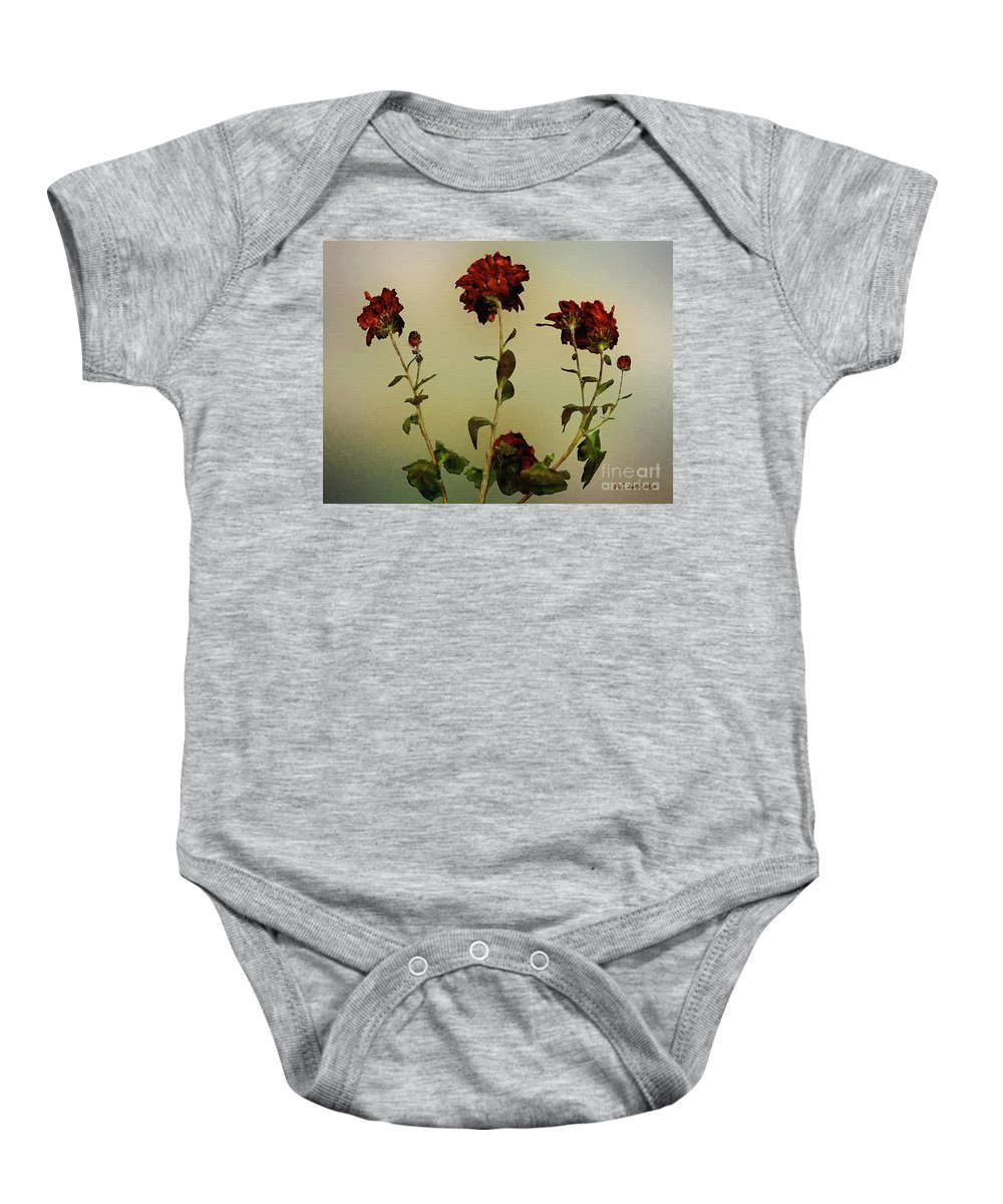 Autumn Baby Onesie featuring the painting Autumn Fresco by RC DeWinter