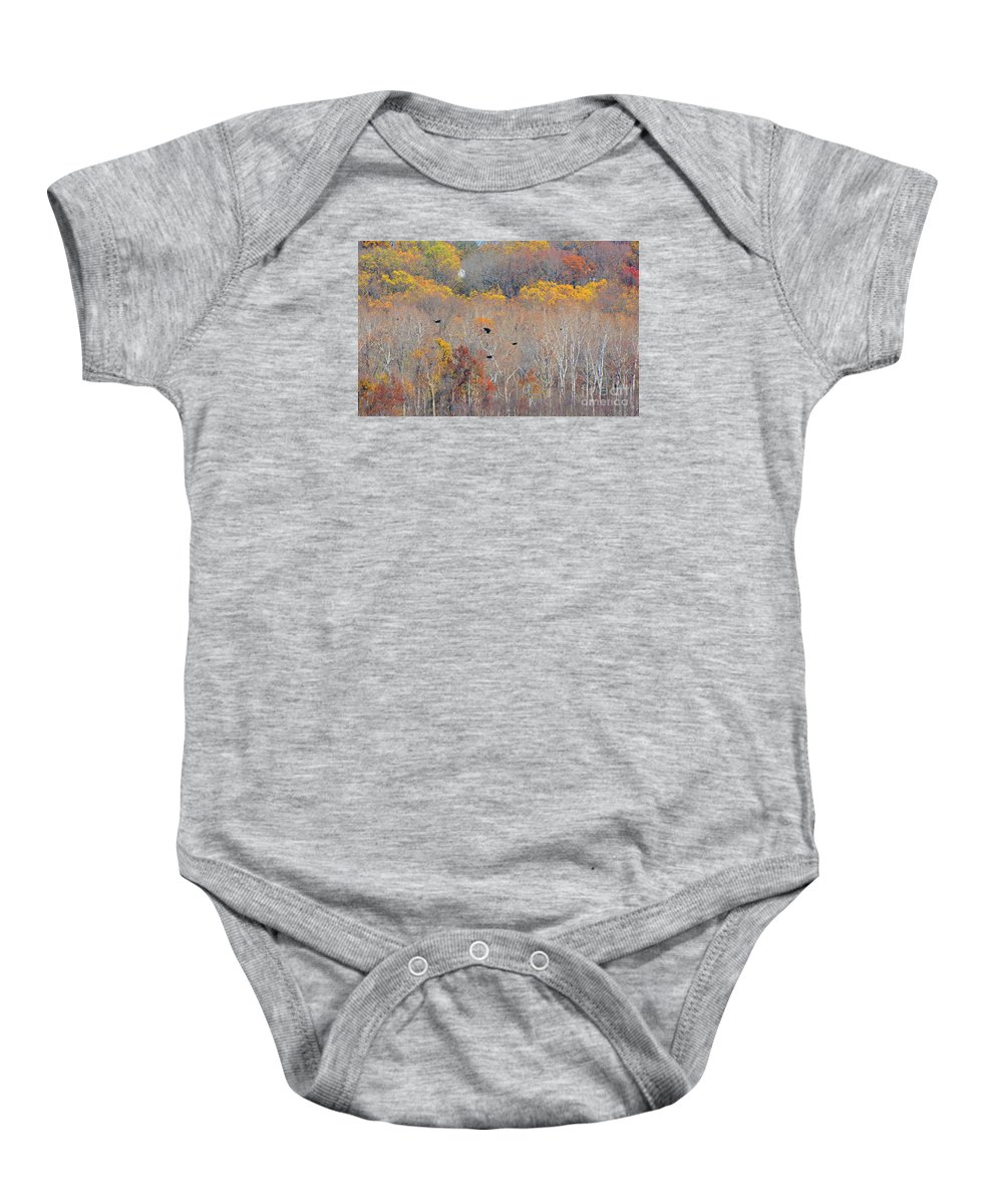 Fall Baby Onesie featuring the photograph Autumn Splendor by Cindy Manero