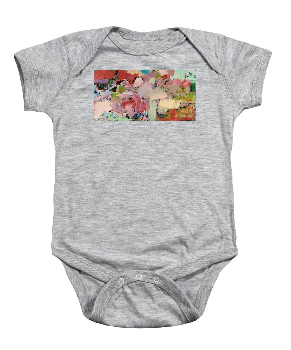 Landscape Baby Onesie featuring the painting Azaleas by Allan P Friedlander