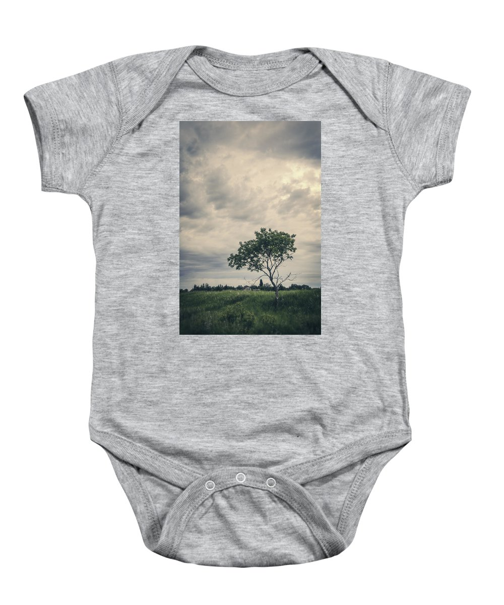 Manitoba Baby Onesie featuring the photograph Baby We All Have Dreams by Sandra Parlow
