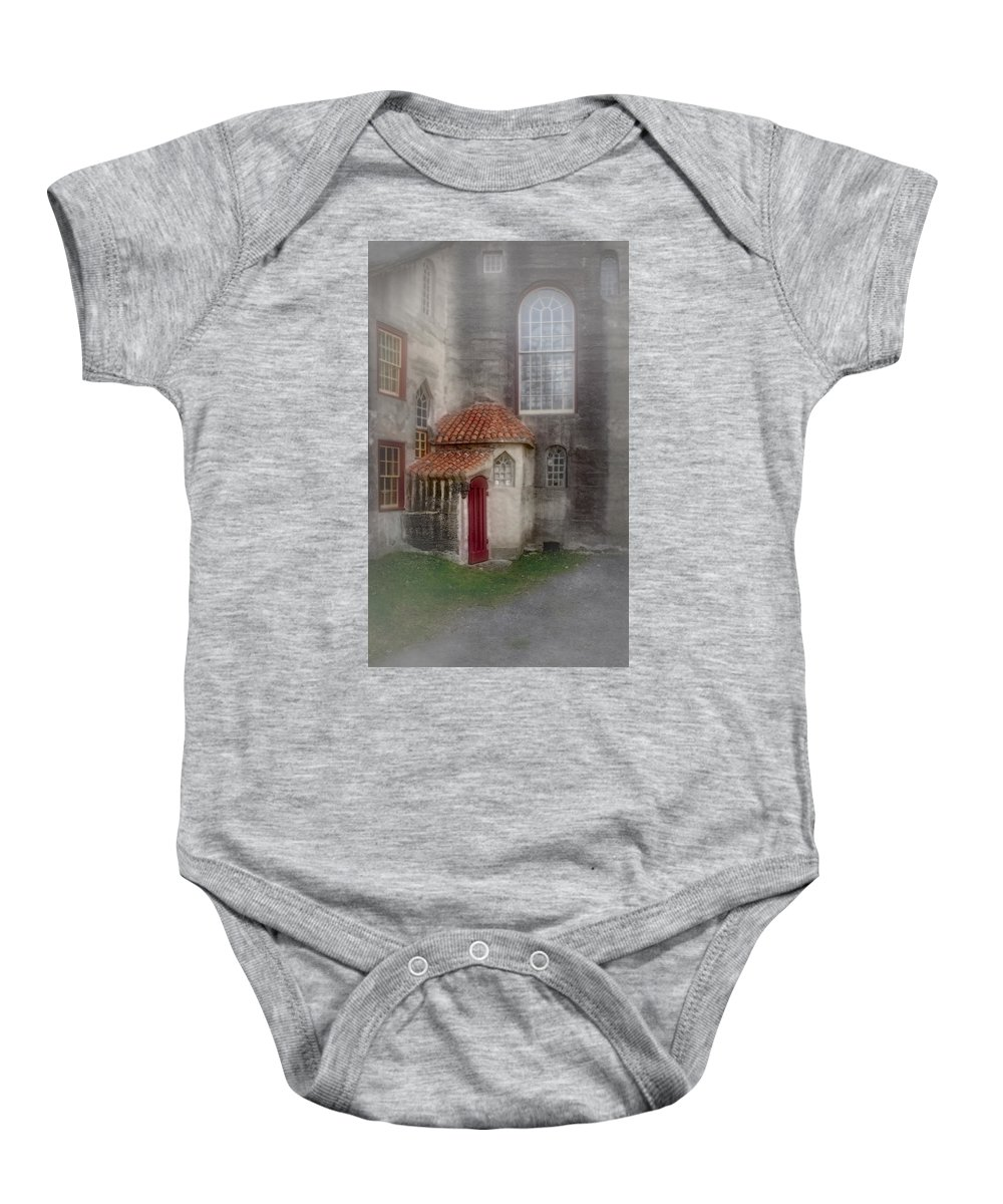 Byzantine Baby Onesie featuring the photograph Back Door To The Castle by Susan Candelario