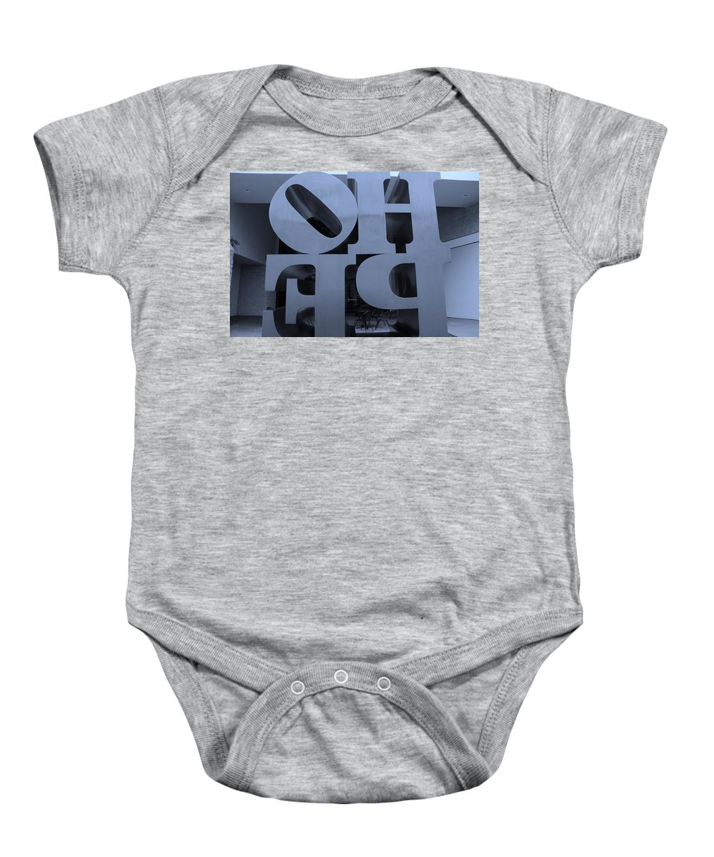 Hope Baby Onesie featuring the photograph Backside Of Hope In Cyan by Rob Hans
