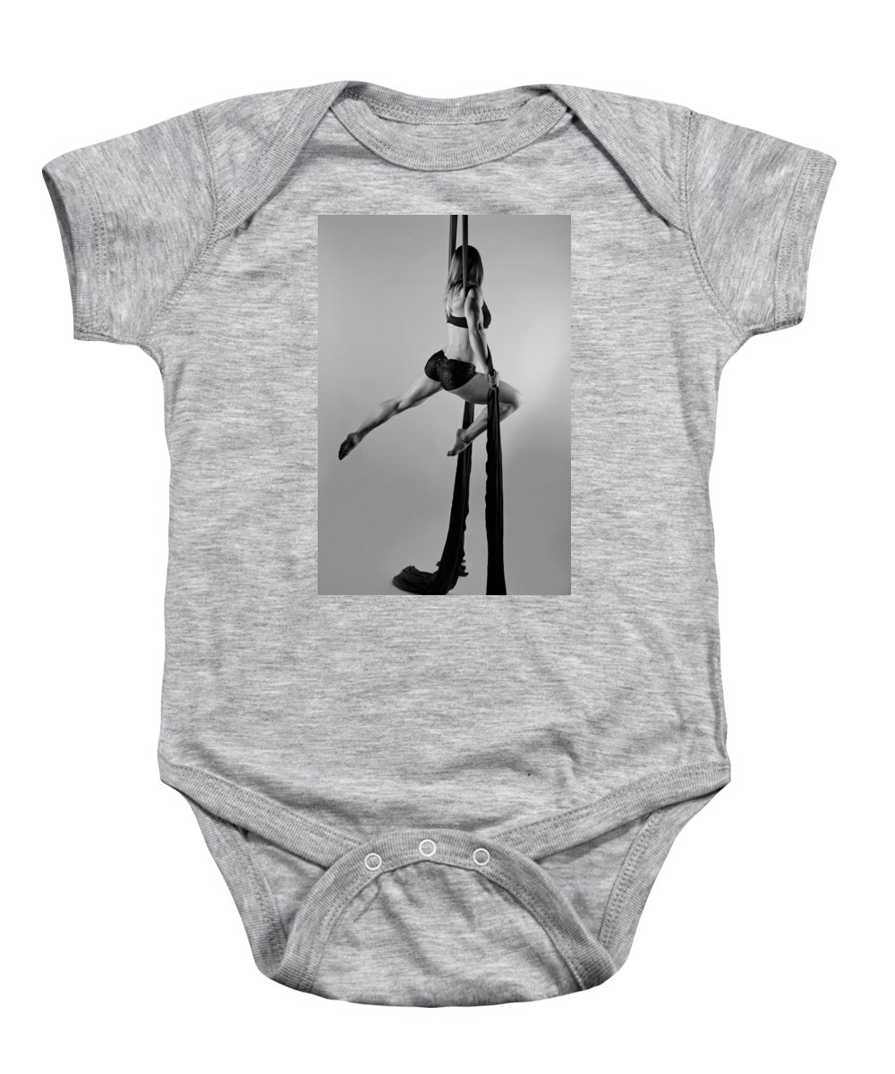 Strength Baby Onesie featuring the photograph Balance Of Power Series Leap by Monte Arnold
