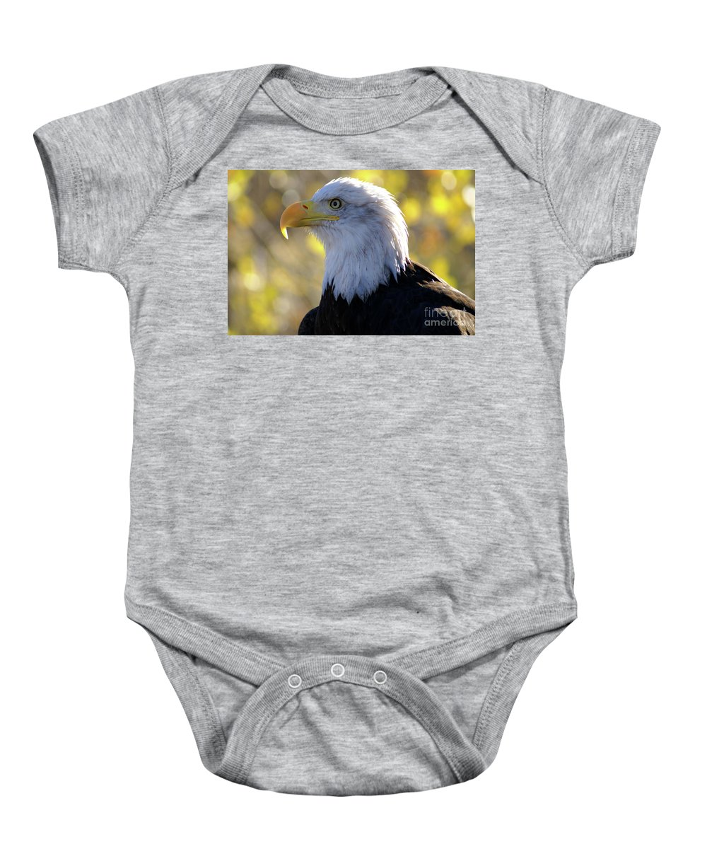 Eagle Baby Onesie featuring the photograph Bald Eagle Beauty by Kelly Black