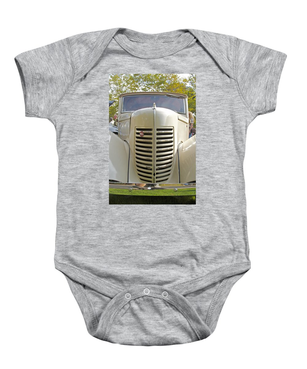 Antique Baby Onesie featuring the photograph Bantram by Jack R Perry